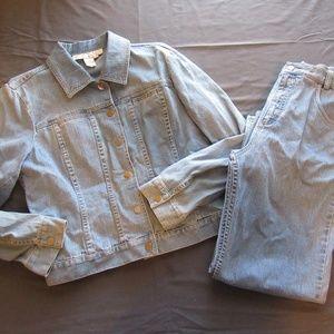 Doncaster Jean Jacket and Pants Set / Suit Sz 10